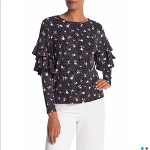 Cece by Cynthia Steffe ruffle sleeve shirt